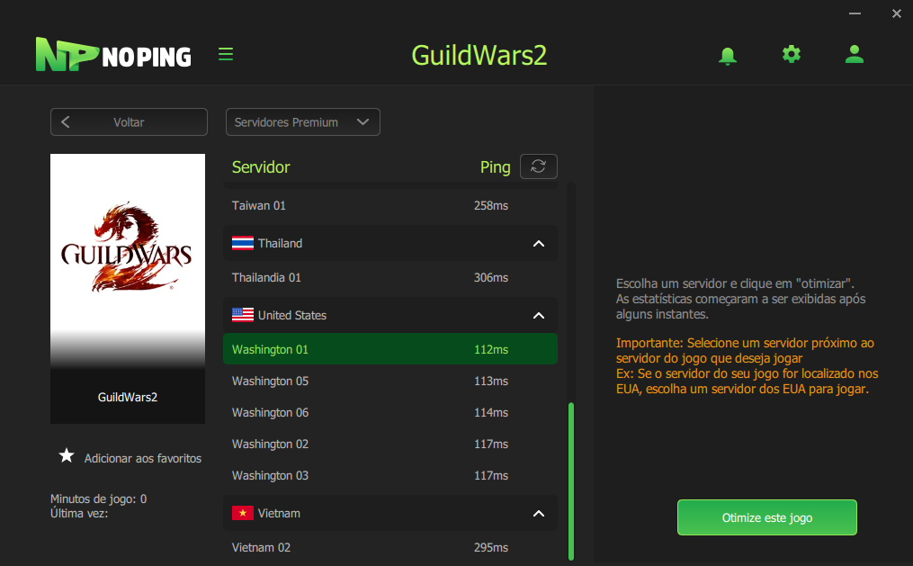 GUILD WARS 2 PING