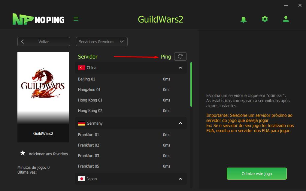 GUILD WARS 2 DIMINUIR PING
